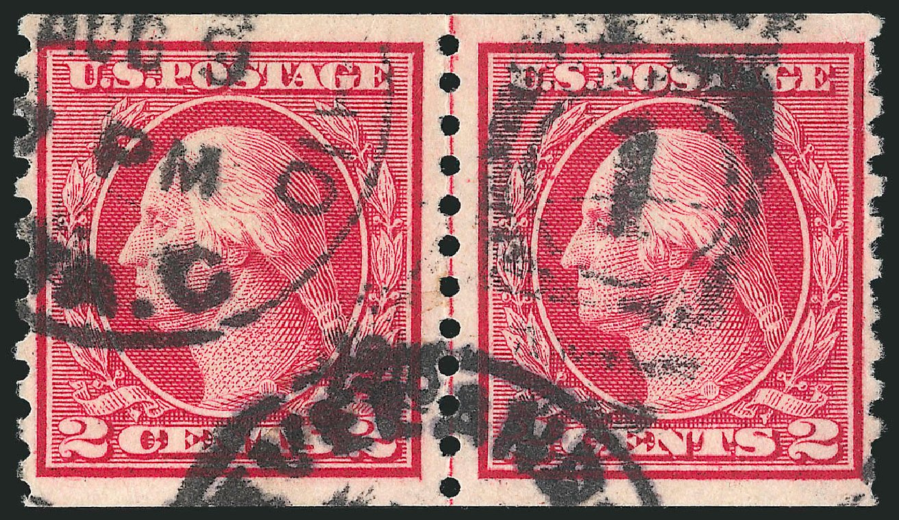 Costs of US Stamp Scott Catalog #453: 2c 1914 Washington Coil Perf 10 Vertically. Robert Siegel Auction Galleries, Feb 2015, Sale 1093, Lot 357