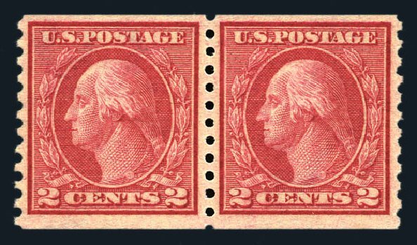 US Stamp Price Scott Catalogue # 453 - 2c 1914 Washington Coil Perf 10 Vertically. Harmer-Schau Auction Galleries, Aug 2015, Sale 106, Lot 1830