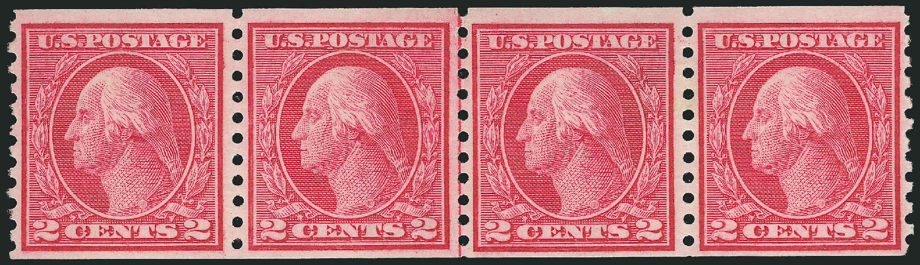 Prices of US Stamp Scott #453: 2c 1914 Washington Coil Perf 10 Vertically. Robert Siegel Auction Galleries, Feb 2015, Sale 1093, Lot 356