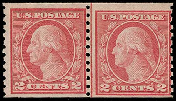 US Stamp Price Scott Catalog 454: 2c 1915 Washington Coil Perf 10 Vertically. H.R. Harmer, Jun 2015, Sale 3007, Lot 3337