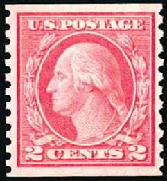 Price of US Stamp Scott Cat. #454: 1915 2c Washington Coil Perf 10 Vertically. Schuyler J. Rumsey Philatelic Auctions, Apr 2015, Sale 60, Lot 2398