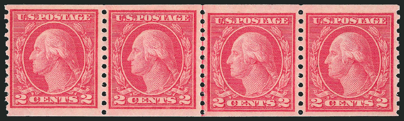 Cost of US Stamp Scott # 454: 2c 1915 Washington Coil Perf 10 Vertically. Robert Siegel Auction Galleries, Feb 2015, Sale 1093, Lot 360