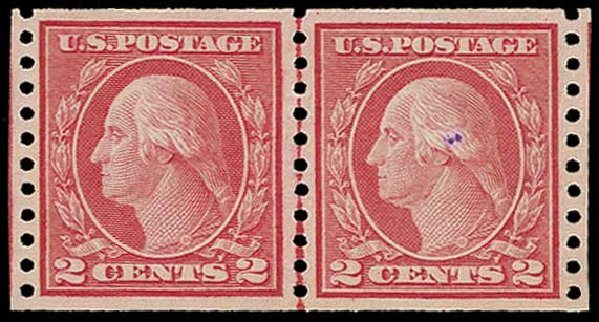 US Stamp Price Scott Catalog # 454: 1915 2c Washington Coil Perf 10 Vertically. H.R. Harmer, Jun 2015, Sale 3007, Lot 3336