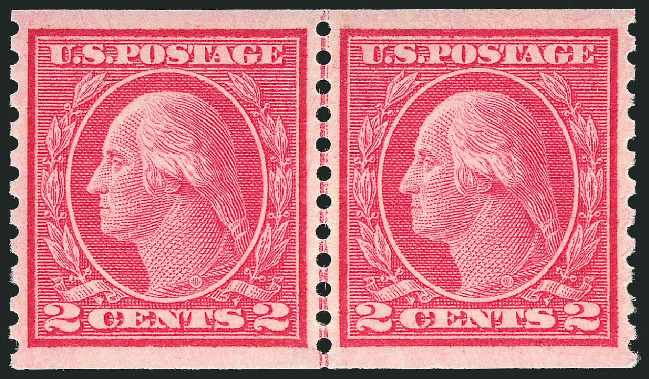 Price of US Stamps Scott Cat. 455: 2c 1915 Washington Coil Perf 10 Vertically. Robert Siegel Auction Galleries, Dec 2013, Sale 1062, Lot 647