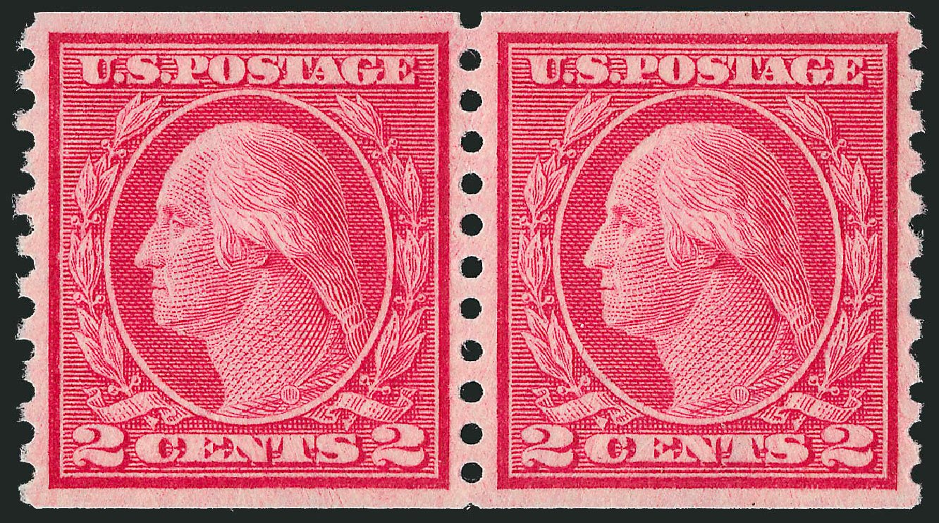 Cost of US Stamps Scott Catalogue # 455 - 2c 1915 Washington Coil Perf 10 Vertically. Robert Siegel Auction Galleries, Dec 2013, Sale 1062, Lot 648