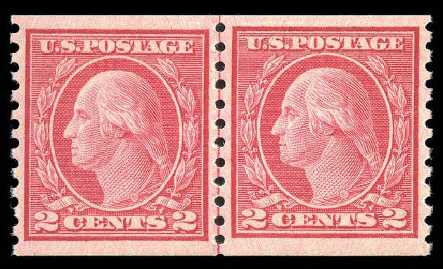 Costs of US Stamp Scott Catalogue # 455: 2c 1915 Washington Coil Perf 10 Vertically. Matthew Bennett International, Sep 2010, Sale 333, Lot 3760