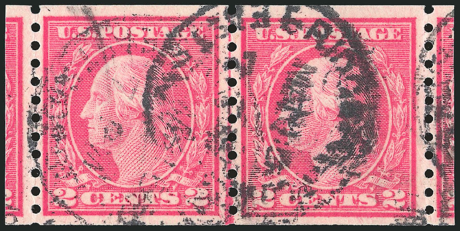 US Stamp Value Scott 455: 2c 1915 Washington Coil Perf 10 Vertically. Robert Siegel Auction Galleries, Sep 2012, Sale 1028, Lot 401