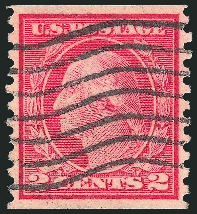 Price of US Stamp Scott #455 - 1915 2c Washington Coil Perf 10 Vertically. Robert Siegel Auction Galleries, Oct 2012, Sale 1032, Lot 3555