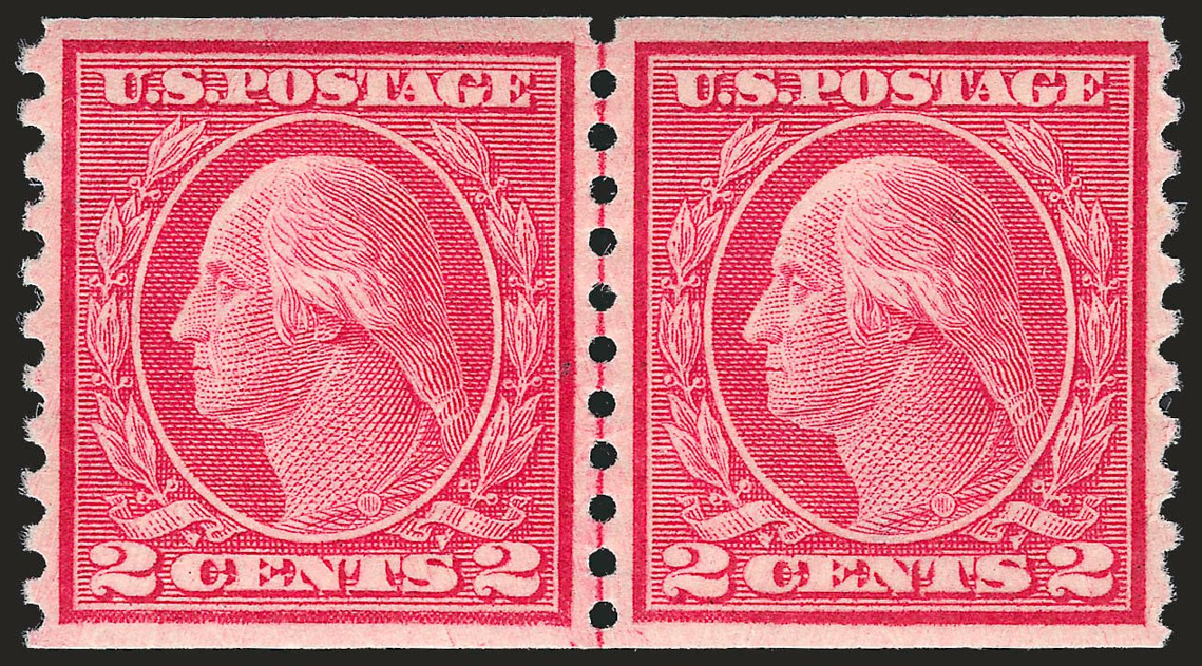 Value of US Stamps Scott Catalog #455: 2c 1915 Washington Coil Perf 10 Vertically. Robert Siegel Auction Galleries, Apr 2010, Sale 984, Lot 895