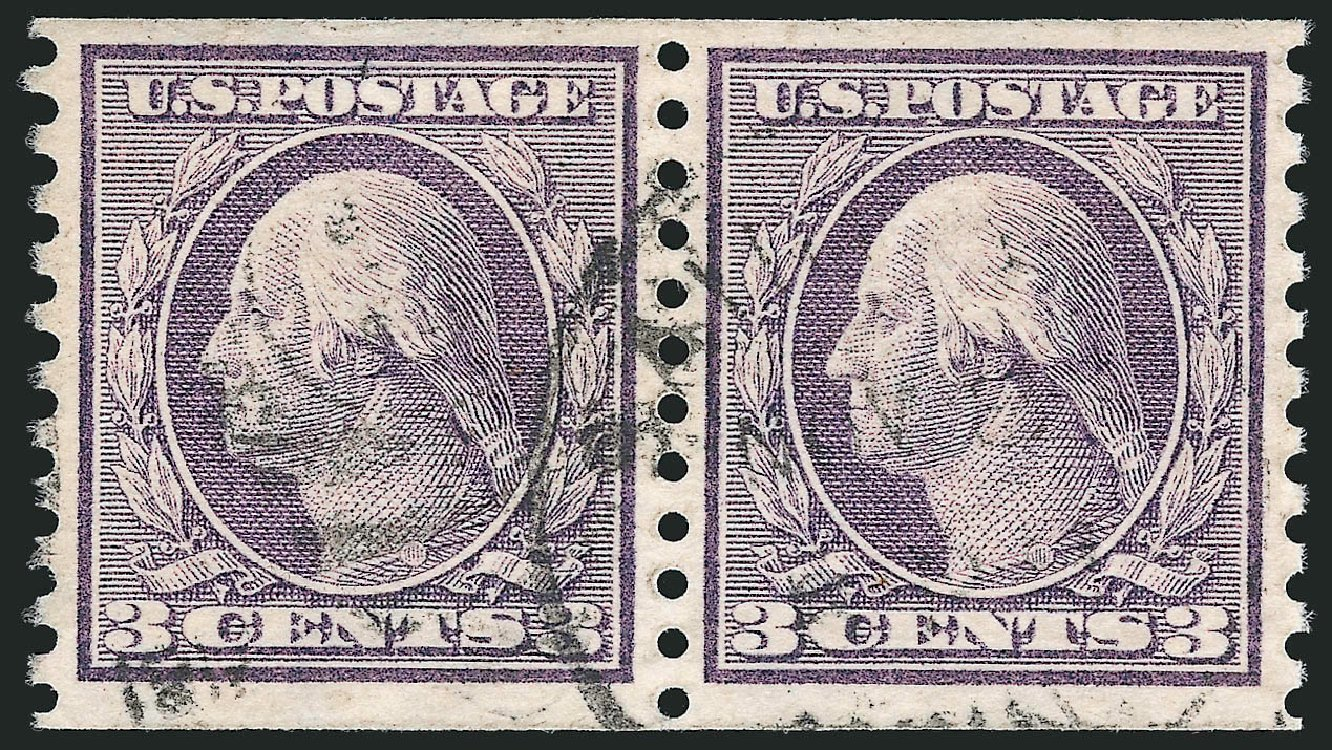Values of US Stamps Scott Catalogue #456: 1916 3c Washington Coil Perf 10 Vertically. Robert Siegel Auction Galleries, Apr 2015, Sale 1096, Lot 701