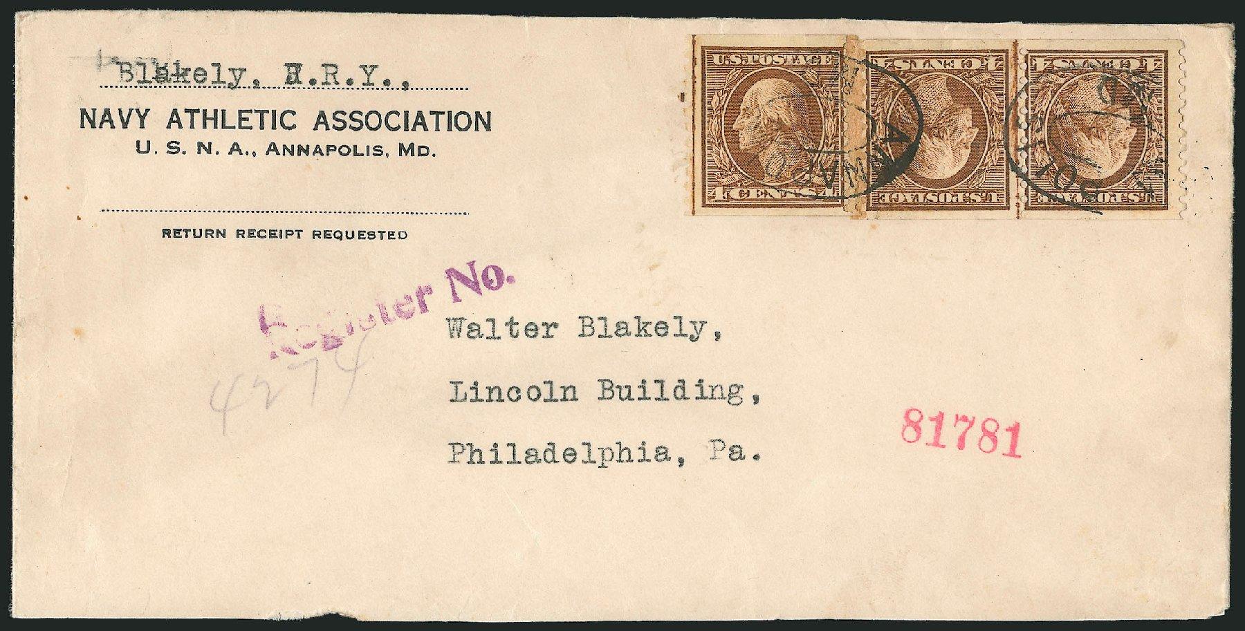 US Stamp Prices Scott #457: 4c 1915 Washington Coil Perf 10 Vertically. Robert Siegel Auction Galleries, Feb 2015, Sale 1093, Lot 369