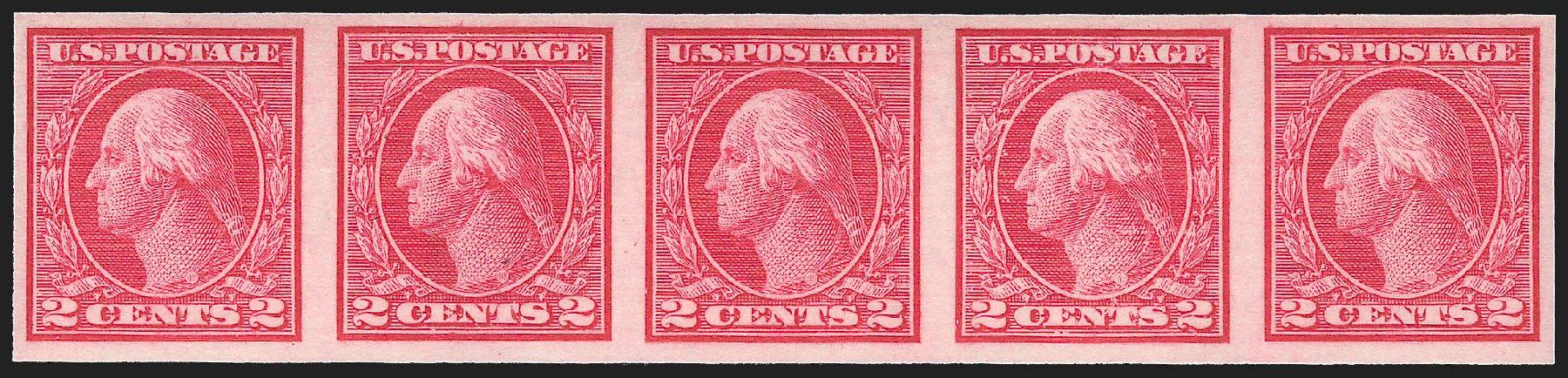 US Stamps Value Scott Catalogue 459 - 2c 1914 Washington Coil Imperf. Robert Siegel Auction Galleries, Jul 2015, Sale 1107, Lot 479
