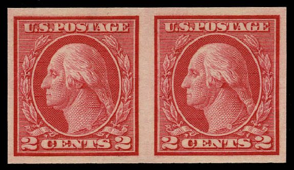 Cost of US Stamp Scott Cat. # 459: 1914 2c Washington Coil Imperf. Daniel Kelleher Auctions, May 2015, Sale 669, Lot 3044