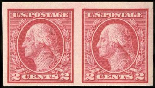 Costs of US Stamp Scott Cat. #459: 1914 2c Washington Coil Imperf. Spink Shreves Galleries, Jul 2015, Sale 151, Lot 304