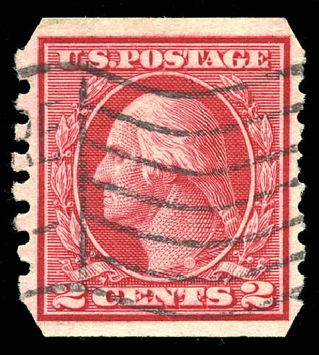 Price of US Stamp Scott Catalog # 459: 1914 2c Washington Coil Imperf. Matthew Bennett International, Feb 2015, Sale 351, Lot 195