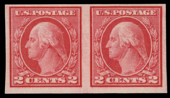 Cost of US Stamps Scott Cat. #459 - 2c 1914 Washington Coil Imperf. Daniel Kelleher Auctions, May 2015, Sale 669, Lot 3045