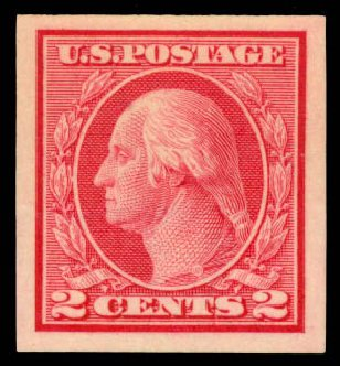 US Stamp Price Scott 459: 2c 1914 Washington Coil Imperf. Daniel Kelleher Auctions, Aug 2015, Sale 672, Lot 2745