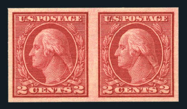 Price of US Stamps Scott Catalogue #459 - 1914 2c Washington Coil Imperf. Harmer-Schau Auction Galleries, Aug 2015, Sale 106, Lot 1832