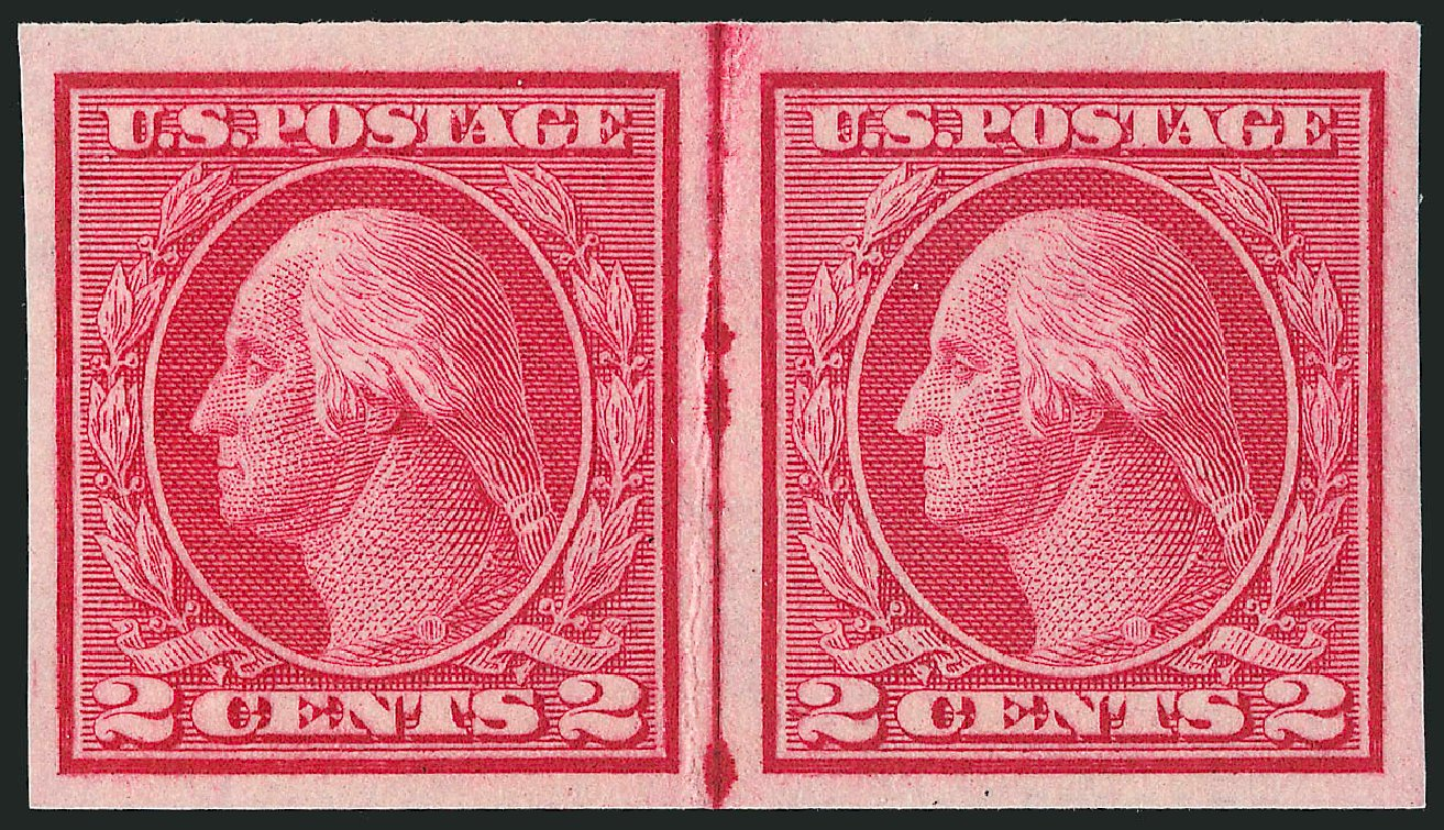 US Stamp Value Scott Cat. # 459: 2c 1914 Washington Coil Imperf. Robert Siegel Auction Galleries, Feb 2015, Sale 1093, Lot 372