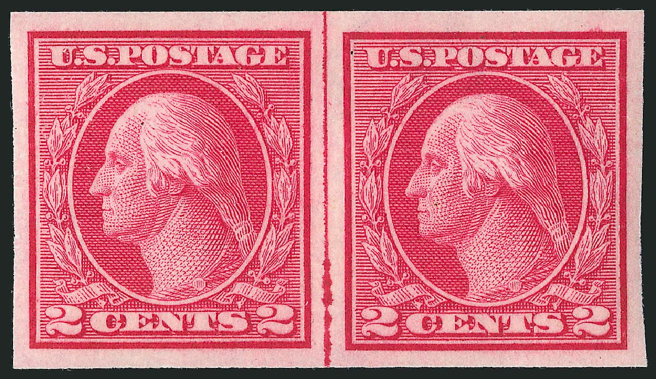 US Stamps Prices Scott Catalog 459 - 2c 1914 Washington Coil Imperf. Robert Siegel Auction Galleries, Apr 2015, Sale 1096, Lot 702