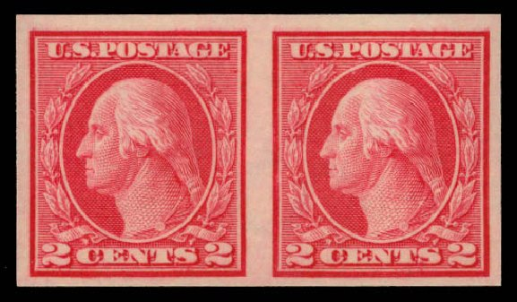 Prices of US Stamps Scott Cat. #459: 1914 2c Washington Coil Imperf. Daniel Kelleher Auctions, May 2015, Sale 669, Lot 3043