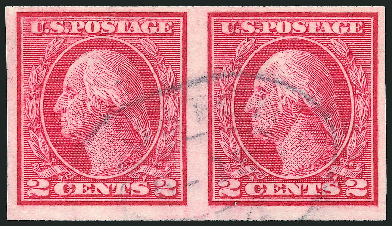 Value of US Stamps Scott 459: 2c 1914 Washington Coil Imperf. Robert Siegel Auction Galleries, Apr 2015, Sale 1096, Lot 703