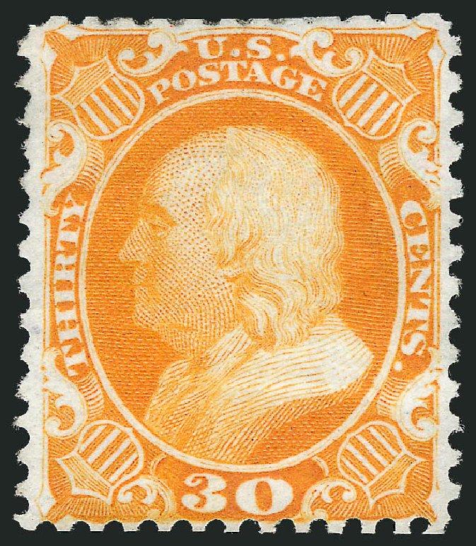 Cost of US Stamp Scott # 46 - 1875 30c Franklin Reprint. Robert Siegel Auction Galleries, Jul 2013, Sale 1050, Lot 179