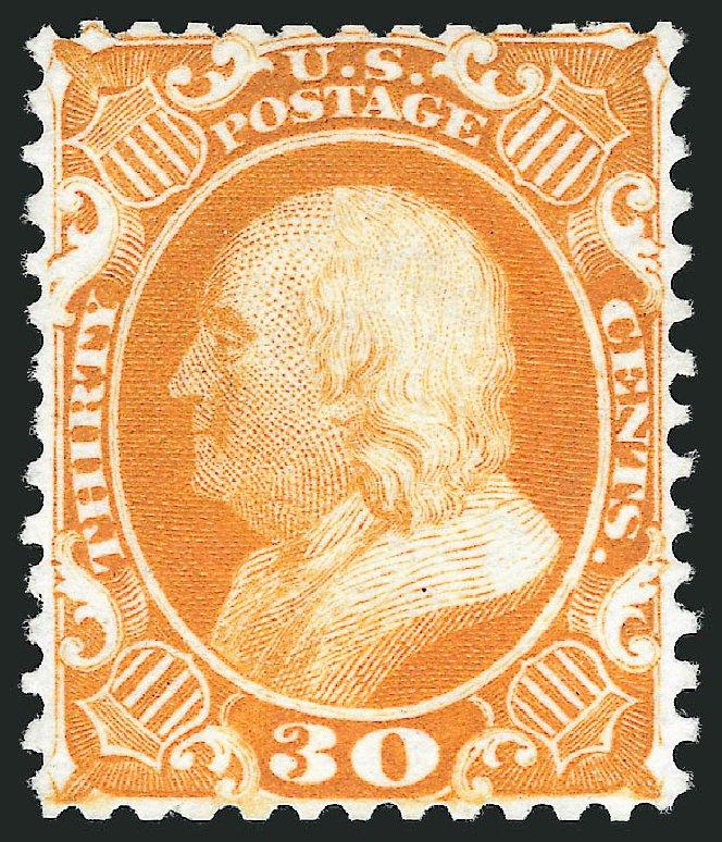 Values of US Stamps Scott Catalog #46 - 1875 30c Franklin Reprint. Robert Siegel Auction Galleries, Mar 2013, Sale 1040, Lot 1282