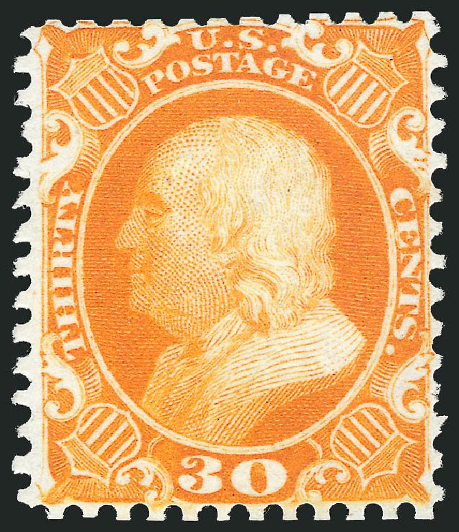 Prices of US Stamp Scott # 46 - 30c 1875 Franklin Reprint. Robert Siegel Auction Galleries, Apr 2015, Sale 1096, Lot 102