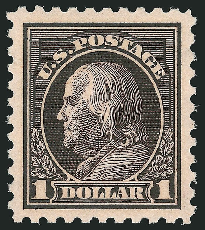 Value of US Stamp Scott #460 - US$1.00 1916 Franklin Perf 10. Robert Siegel Auction Galleries, Jun 2015, Sale 1106, Lot 3157