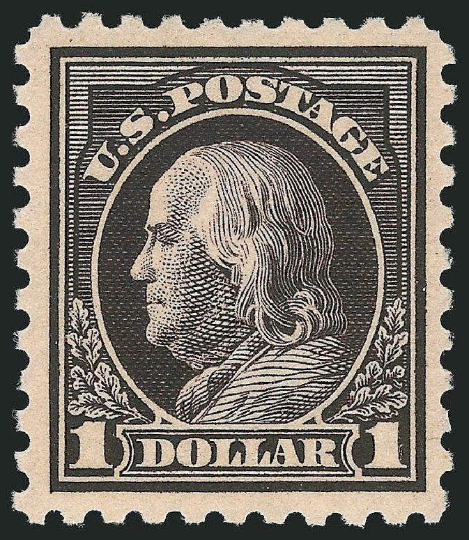 Cost of US Stamp Scott #460 - US$1.00 1916 Franklin Perf 10. Robert Siegel Auction Galleries, Dec 2014, Sale 1090, Lot 1528