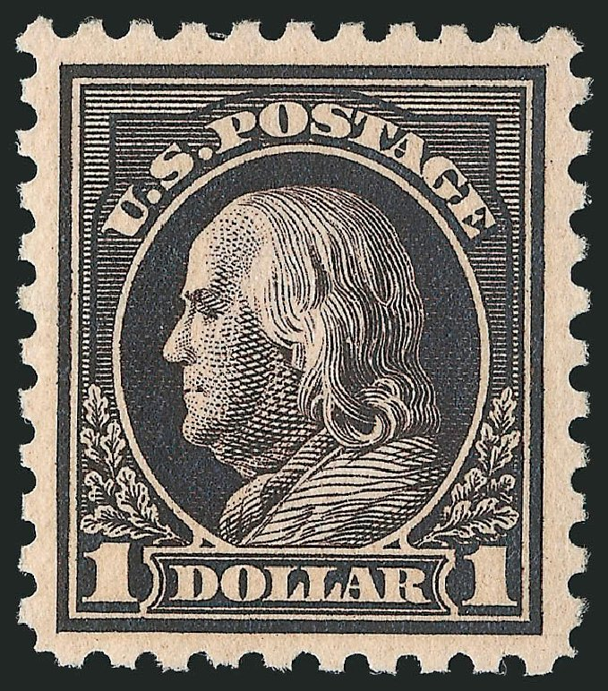 Value of US Stamp Scott #460 - 1916 US$1.00 Franklin Perf 10. Robert Siegel Auction Galleries, Apr 2015, Sale 1096, Lot 704