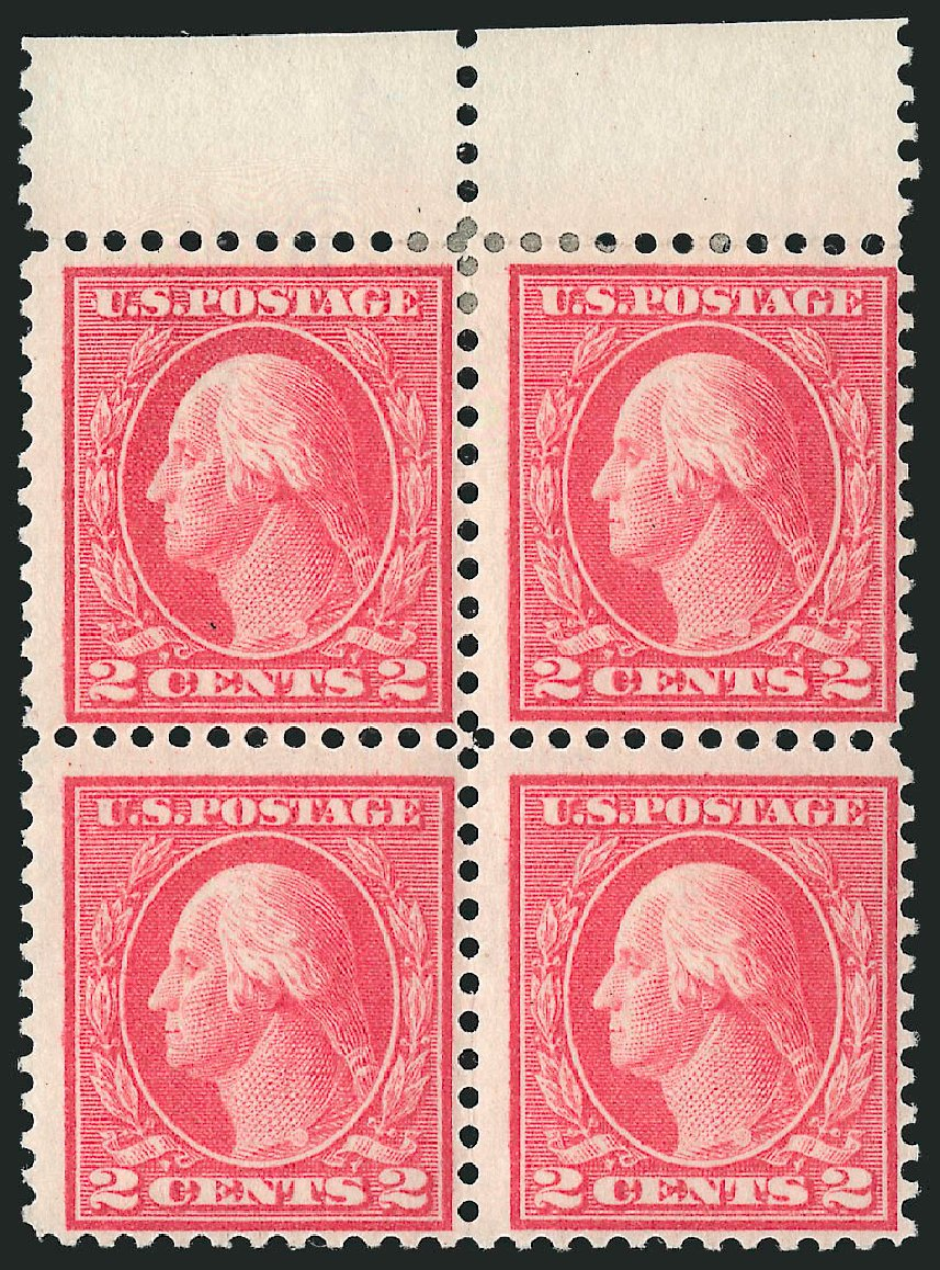 Values of US Stamp Scott Cat. #461 - 2c 1915 Washington Perf 11. Robert Siegel Auction Galleries, Apr 2015, Sale 1096, Lot 707