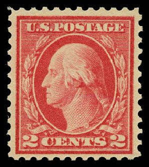 Cost of US Stamp Scott Catalogue #461 - 1915 2c Washington Perf 11. Daniel Kelleher Auctions, May 2015, Sale 669, Lot 3048