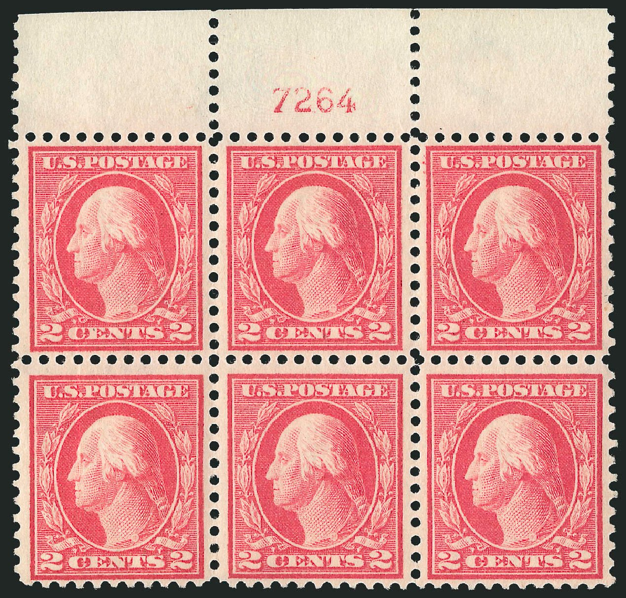 US Stamps Prices Scott Catalogue #461 - 1915 2c Washington Perf 11. Robert Siegel Auction Galleries, Feb 2015, Sale 1093, Lot 378