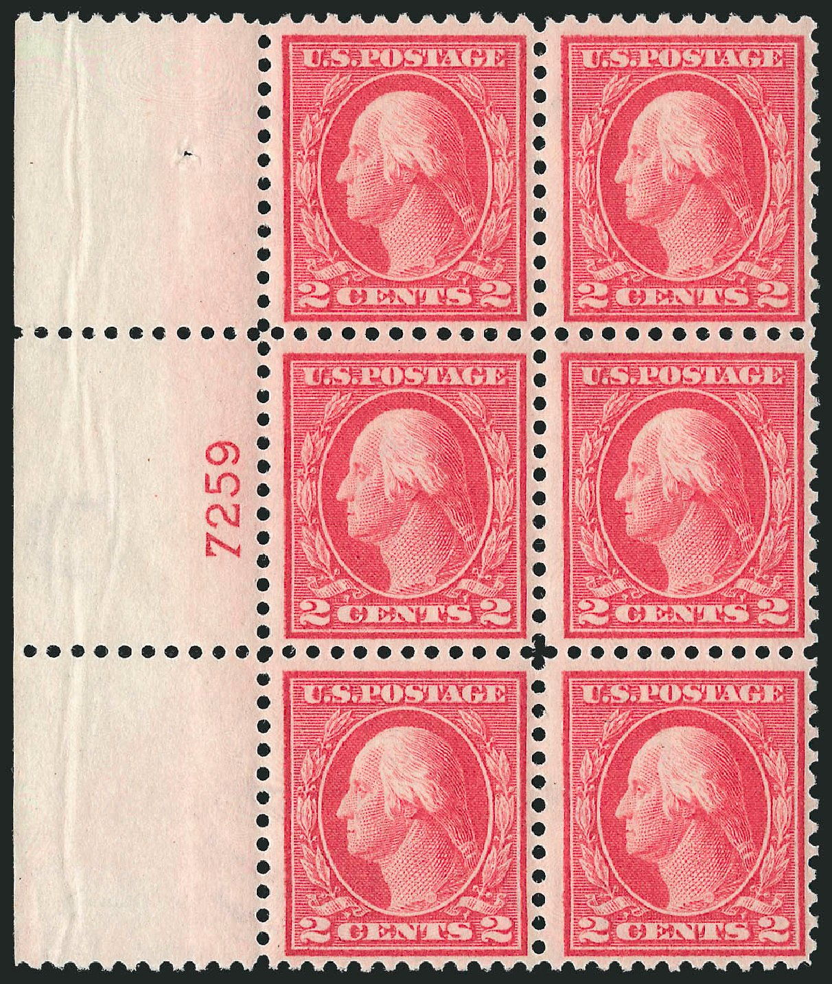 US Stamp Prices Scott Catalog 461: 2c 1915 Washington Perf 11. Robert Siegel Auction Galleries, Apr 2015, Sale 1096, Lot 708