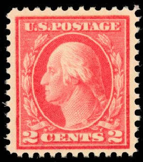 US Stamps Values Scott # 461 - 1915 2c Washington Perf 11. Daniel Kelleher Auctions, Aug 2015, Sale 672, Lot 2749
