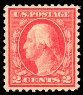 Price of US Stamps Scott Catalogue # 461 - 1915 2c Washington Perf 11. Daniel Kelleher Auctions, Aug 2015, Sale 672, Lot 2750