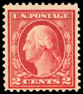 US Stamps Price Scott Cat. #461 - 1915 2c Washington Perf 11. Daniel Kelleher Auctions, May 2015, Sale 669, Lot 3051