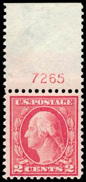 Values of US Stamps Scott Catalog 461 - 2c 1915 Washington Perf 11. Schuyler J. Rumsey Philatelic Auctions, Apr 2015, Sale 60, Lot 2825