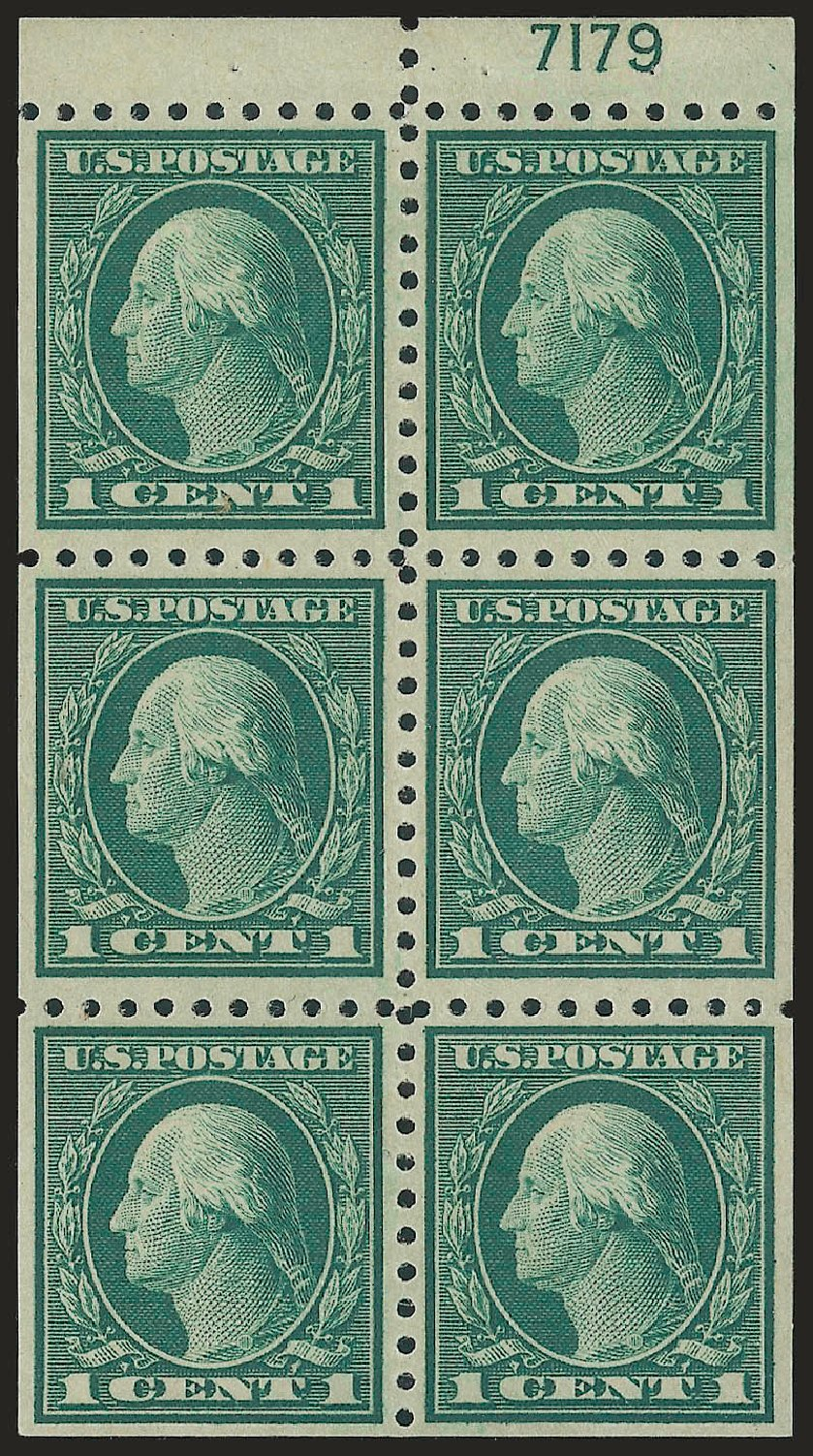 US Stamp Value Scott Catalog 462: 1c 1916 Washington Perf 10. Robert Siegel Auction Galleries, Jun 2010, Sale 991, Lot 1239