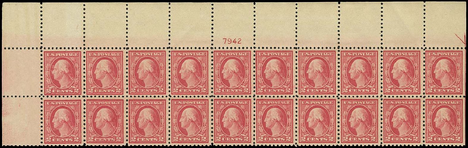 Value of US Stamps Scott Catalogue #463: 2c 1916 Washington Perf 10. Regency-Superior, Aug 2015, Sale 112, Lot 1344