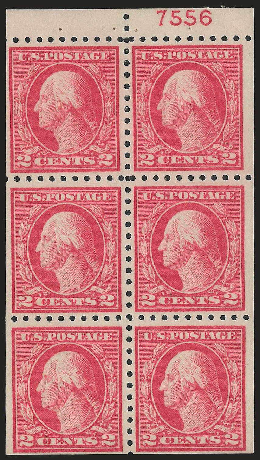 Prices of US Stamps Scott Catalog 463 - 2c 1916 Washington Perf 10. Robert Siegel Auction Galleries, Jun 2010, Sale 991, Lot 1243