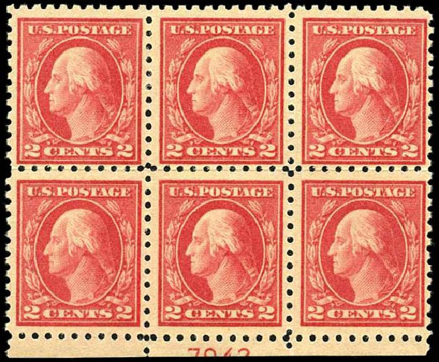 Price of US Stamp Scott #463: 1916 2c Washington Perf 10. Harmer-Schau Auction Galleries, Oct 2013, Sale 99, Lot 186