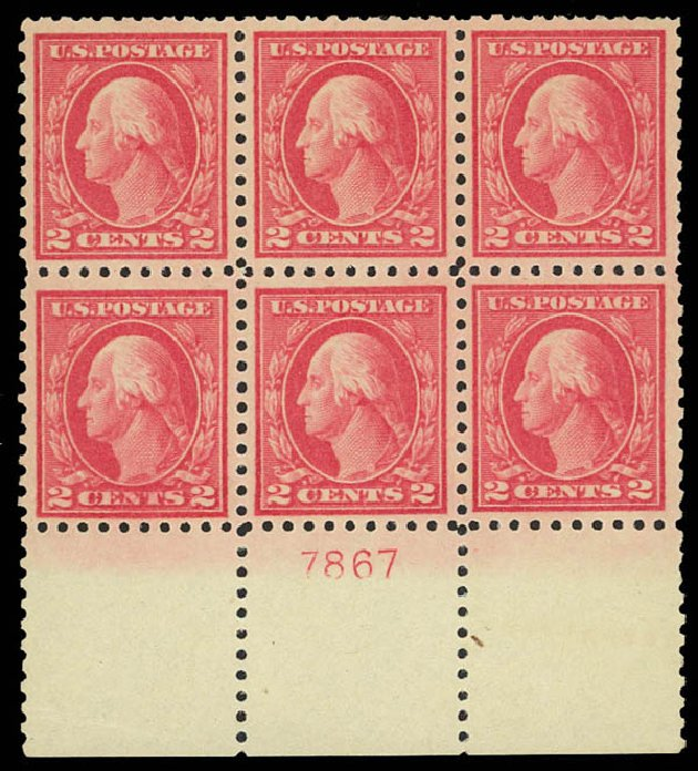US Stamps Prices Scott Catalogue 463: 1916 2c Washington Perf 10. Daniel Kelleher Auctions, Aug 2012, Sale 631, Lot 1226