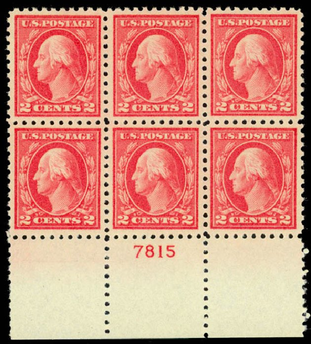 Values of US Stamps Scott Cat. 463: 1916 2c Washington Perf 10. Daniel Kelleher Auctions, Mar 2013, Sale 635, Lot 546