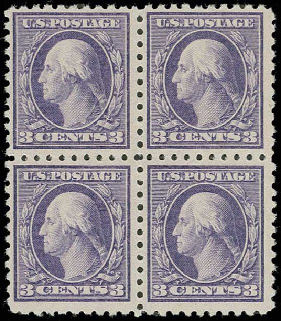US Stamp Value Scott Cat. #464 - 3c 1916 Washington Perf 10. H.R. Harmer, Jun 2013, Sale 3003, Lot 1319