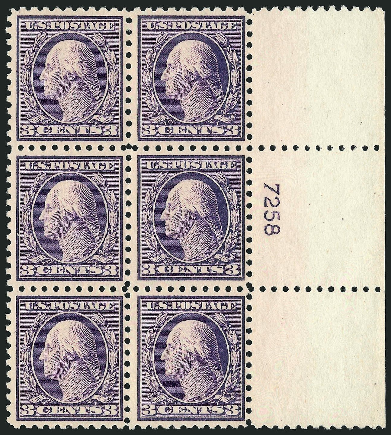 Prices of US Stamp Scott Catalogue # 464 - 1916 3c Washington Perf 10. Robert Siegel Auction Galleries, Feb 2015, Sale 1093, Lot 382
