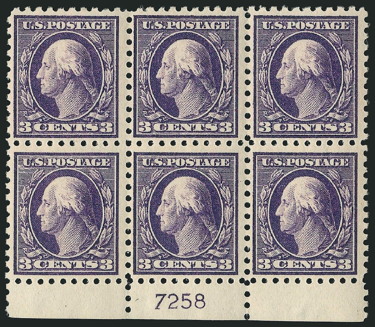 US Stamp Values Scott Cat. # 464: 3c 1916 Washington Perf 10. Robert Siegel Auction Galleries, Apr 2015, Sale 1096, Lot 713