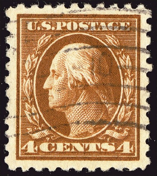 US Stamps Value Scott Catalogue #465: 1916 4c Washington Perf 10. Spink Shreves Galleries, Jan 2014, Sale 146, Lot 428